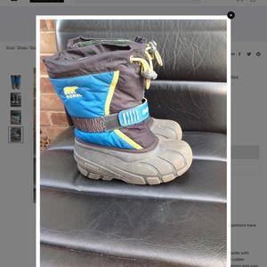 Sorel kids blue snow boots